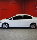 honda civic 2009 white sedan lx gasoline 4 cylinders front wheel drive automatic 76116