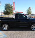 dodge ram pickup 1500 srt 10 2004 black pickup truck gasoline 10 cylinders rear wheel drive 6 speed manual 76087