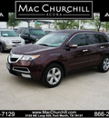 acura mdx 2010 dk  red suv mdx gasoline 6 cylinders all whee drive automatic 76137