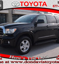 toyota sequoia 2010 black suv sr5 gasoline 8 cylinders 2 wheel drive automatic 76011