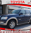 ford explorer 2006 dk  blue suv eddie bauer gasoline 6 cylinders rear wheel drive automatic with overdrive 76011