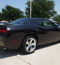 dodge challenger 2011 black coupe r t gasoline 8 cylinders rear wheel drive 6 speed manual 76011