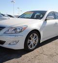 hyundai genesis 2012 white sedan 3 8l v6 gasoline 6 cylinders rear wheel drive automatic 75150