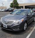 hyundai azera 2012 gray sedan gasoline 6 cylinders front wheel drive not specified 75075