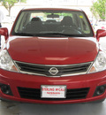 nissan versa 2011 dk  red sedan 1 8 s gasoline 4 cylinders front wheel drive automatic with overdrive 77477
