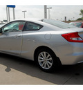 honda civic 2012 silver coupe ex l w navi gasoline 4 cylinders front wheel drive 5 speed automatic 77025