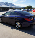 hyundai sonata 2012 dk  blue sedan se gasoline 4 cylinders front wheel drive automatic 76049