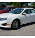 ford fusion 2012 white sedan sel flex fuel 6 cylinders front wheel drive automatic 78644