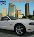 ford mustang 2012 white coupe gt premium gasoline rear wheel drive automatic 77521