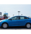 ford focus 2012 blue sedan se flex fuel 4 cylinders front wheel drive automatic 79407