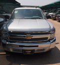 chevrolet silverado 1500 2012 silver ice pickup truck ls flex fuel 8 cylinders 2 wheel drive automatic 76051