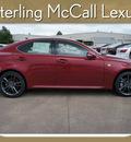 lexus is 250 2012 red sedan gasoline 6 cylinders rear wheel drive automatic 77074