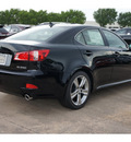 lexus is 250 2012 black sedan gasoline 6 cylinders rear wheel drive automatic 77074