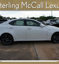lexus is 250 2012 white sedan gasoline 6 cylinders rear wheel drive automatic 77074