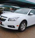 chevrolet cruze 2012 white sedan lt gasoline 4 cylinders front wheel drive not specified 76051
