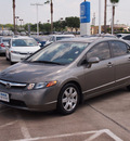 honda civic 2008 gray sedan lx gasoline 4 cylinders front wheel drive automatic 77566