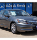 honda accord 2012 dk  gray sedan ex l gasoline 4 cylinders front wheel drive automatic 77034