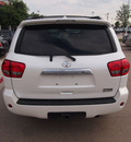 toyota sequoia 2012 white suv platinum gasoline 8 cylinders 2 wheel drive 6 speed automatic 76053