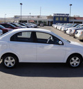 chevrolet aveo 2010 white sedan ls gasoline 4 cylinders front wheel drive automatic 79922