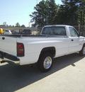 dodge ram pickup 1500 1998 white pickup truck ws gasoline v6 rear wheel drive automatic 75503