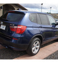 bmw x3 2011 blue xdrive28i gasoline 6 cylinders all whee drive steptronic 99352