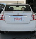 nissan sentra 2011 white sedan 2 0 s gasoline 4 cylinders front wheel drive cont  variable trans  77477