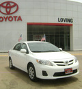 toyota corolla 2011 white sedan le gasoline 4 cylinders front wheel drive automatic 75901