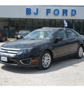 ford fusion 2011 black sedan sel gasoline 4 cylinders front wheel drive automatic 77575