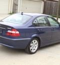 bmw 3 series 2005 blue sedan 325i gasoline 6 cylinders rear wheel drive 77008