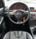 mazda mazda3 2008 black hatchback gasoline 4 cylinders front wheel drive 5 speed manual 76087