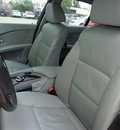 bmw 5 series 2007 silver sedan 525i gasoline 6 cylinders rear wheel drive automatic 78577