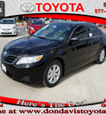 toyota camry 2011 black sedan le 4 cylinders front wheel drive automatic 76011