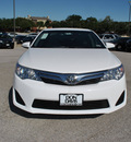 toyota camry 2012 white sedan le gasoline 4 cylinders front wheel drive automatic 76011