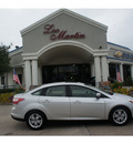 ford focus 2012 silver sedan sel flex fuel 4 cylinders front wheel drive shiftable automatic 77566