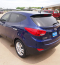 hyundai tucson 2012 blue limited gasoline 4 cylinders front wheel drive automatic 76049