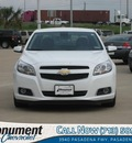 chevrolet malibu 2013 white sedan eco gasoline 4 cylinders front wheel drive 6 speed automatic 77503