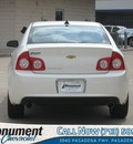 chevrolet malibu 2012 white sedan ltz gasoline 6 cylinders front wheel drive 6 speed automatic 77503
