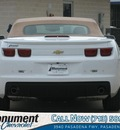 chevrolet camaro 2012 white lt convertible gasoline 6 cylinders rear wheel drive automatic 77503