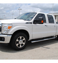 ford f 250 super duty 2012 white lariat flex fuel 8 cylinders 2 wheel drive automatic 77074