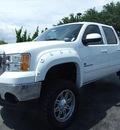 gmc sierra 1500 2011 white pickup truck slt flex fuel 8 cylinders 4 wheel drive automatic 77074
