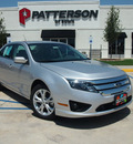 ford fusion 2012 silver sedan se flex fuel 6 cylinders front wheel drive shiftable automatic 76230
