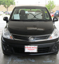 nissan versa 2011 black sedan 1 8 s gasoline 4 cylinders front wheel drive automatic with overdrive 77477