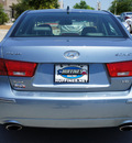 hyundai sonata 2009 dk  blue sedan limited v6 gasoline 6 cylinders front wheel drive shiftable automatic 75070