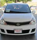 nissan versa 2010 white hatchback 1 8 s gasoline 4 cylinders front wheel drive automatic with overdrive 77477
