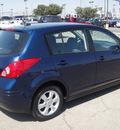nissan versa 2007 blue hatchback gasoline 4 cylinders front wheel drive automatic 79936