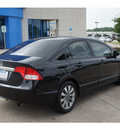 honda civic 2009 black sedan ex gasoline 4 cylinders front wheel drive automatic 77566