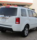 honda pilot 2011 white suv ex l w dvd gasoline 6 cylinders front wheel drive automatic with overdrive 77074