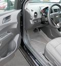 chevrolet sonic 2012 black sedan lt gasoline 4 cylinders front wheel drive 6 speed automatic 55313