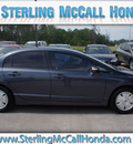 honda civic 2007 dk  gray sedan hybrid w navi hybrid 4 cylinders front wheel drive automatic 77339