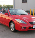 toyota camry solara 2007 red se v6 gasoline 6 cylinders front wheel drive shiftable automatic 77074